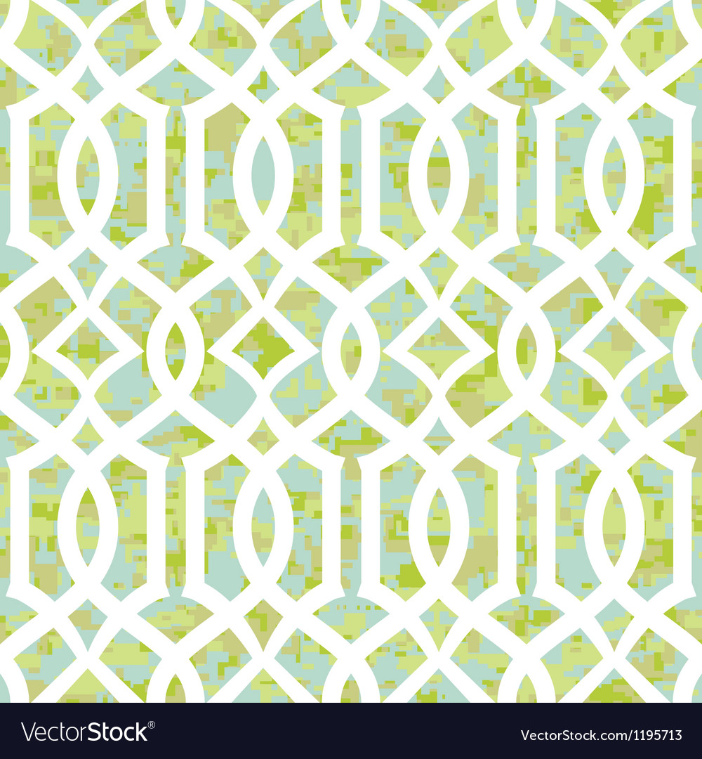 Seamless sunny morning trellis background pattern vector | Price: 1 Credit (USD $1)