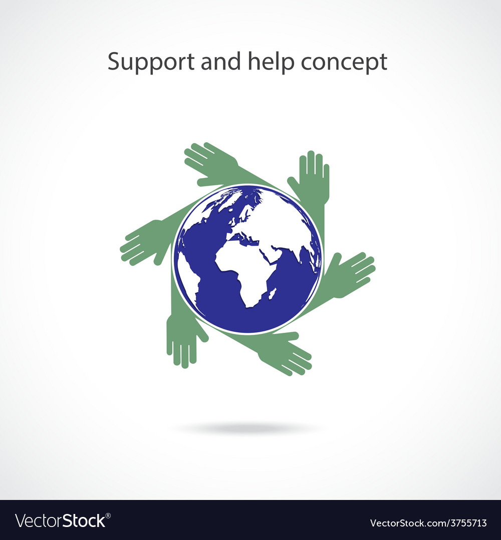 Support and help concept vector | Price: 1 Credit (USD $1)
