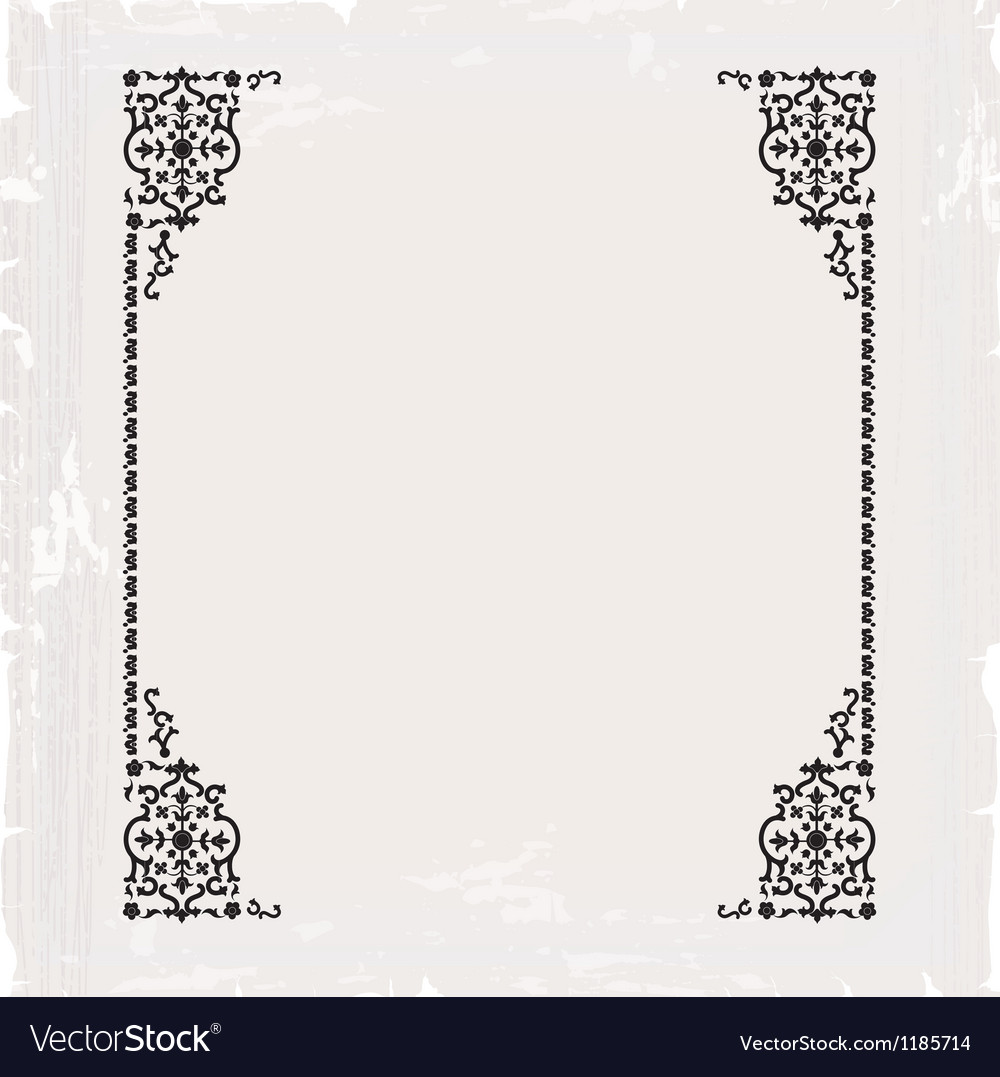 Calligraphic ornate vintage frame border vector | Price: 1 Credit (USD $1)