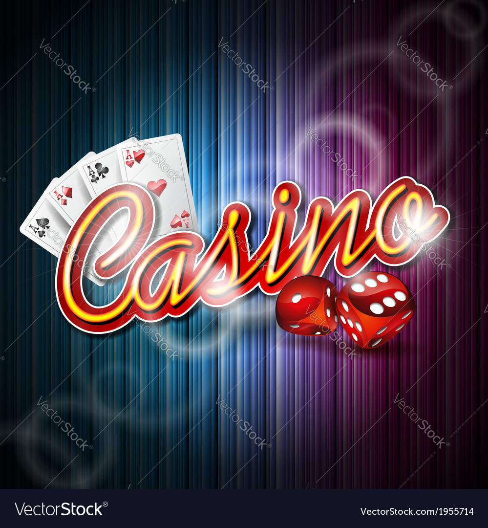 Casino design with roulette wheel and ribbon vector | Price: 1 Credit (USD $1)
