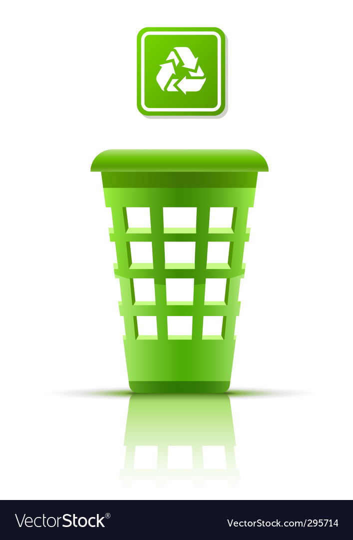 Green garbage basket with indicator vector | Price: 1 Credit (USD $1)
