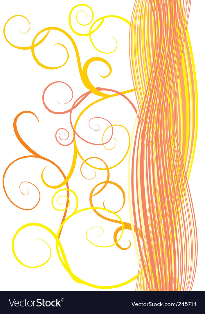 Orange waves and curves vector | Price: 1 Credit (USD $1)