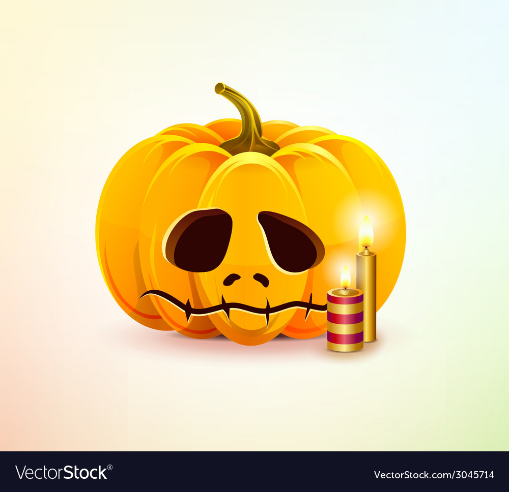 Sad pumpkin vector | Price: 1 Credit (USD $1)