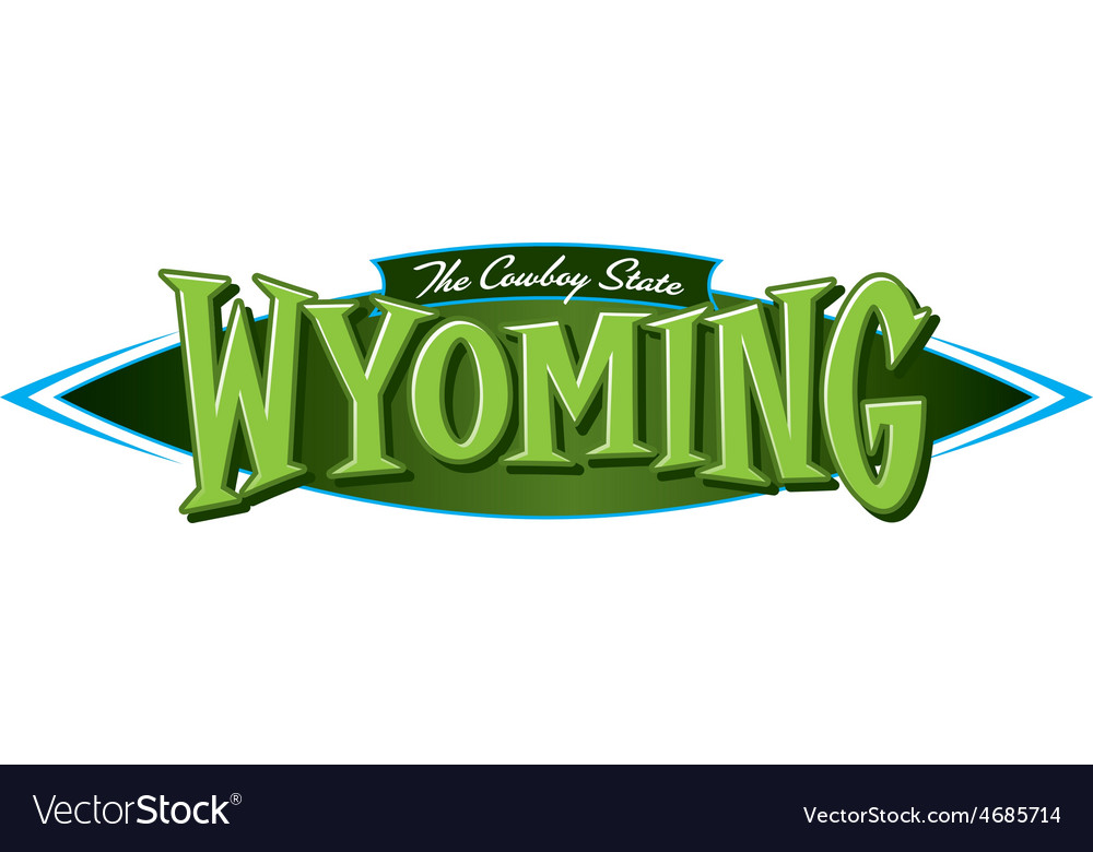 Wyoming the cowboy state vector | Price: 3 Credit (USD $3)