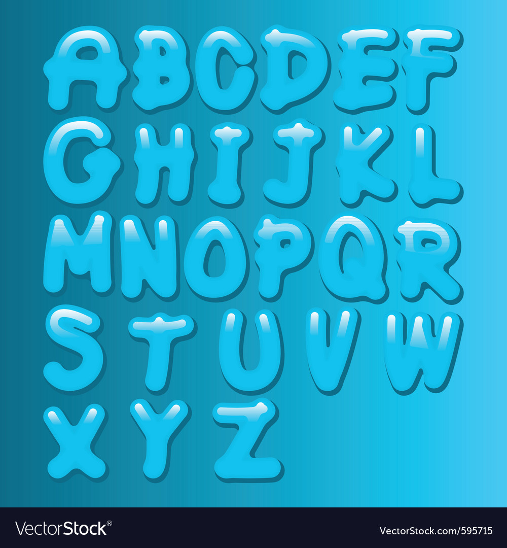 Aqua font vector | Price: 1 Credit (USD $1)