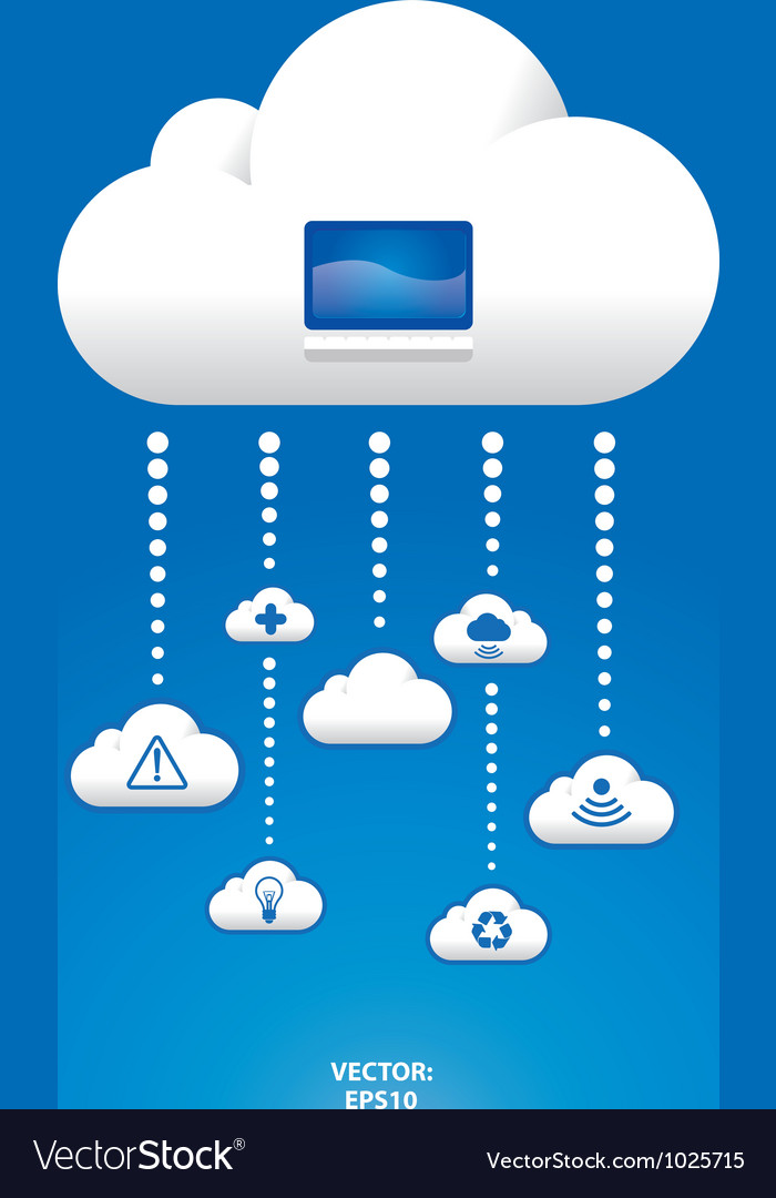 Cloud graph vector | Price: 1 Credit (USD $1)