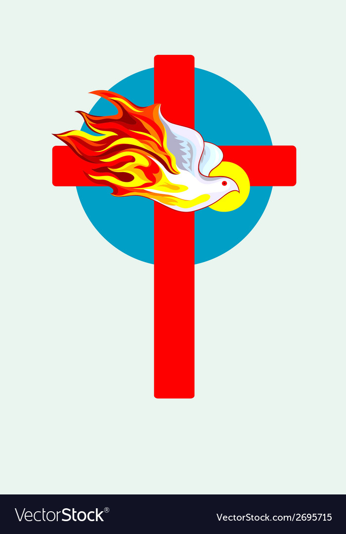 Cross n holyspirit 2 vector | Price: 1 Credit (USD $1)