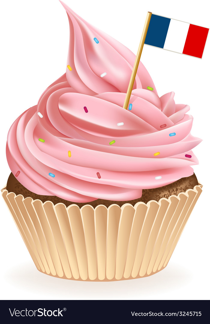 French cupcake vector | Price: 1 Credit (USD $1)