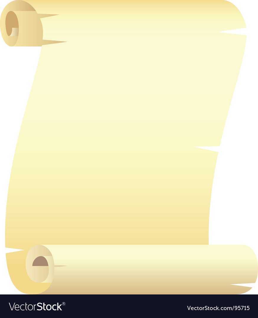 Paper scroll vector | Price: 1 Credit (USD $1)