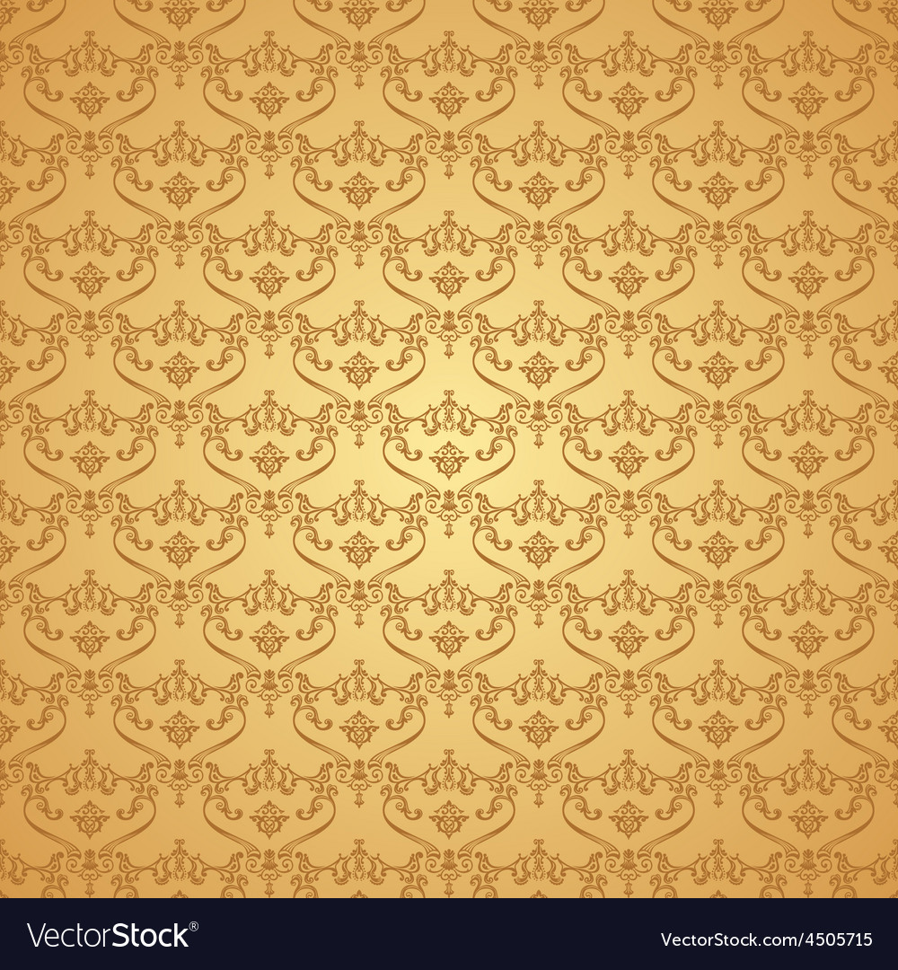 Seamless vintage background calligraphic pattern vector | Price: 1 Credit (USD $1)