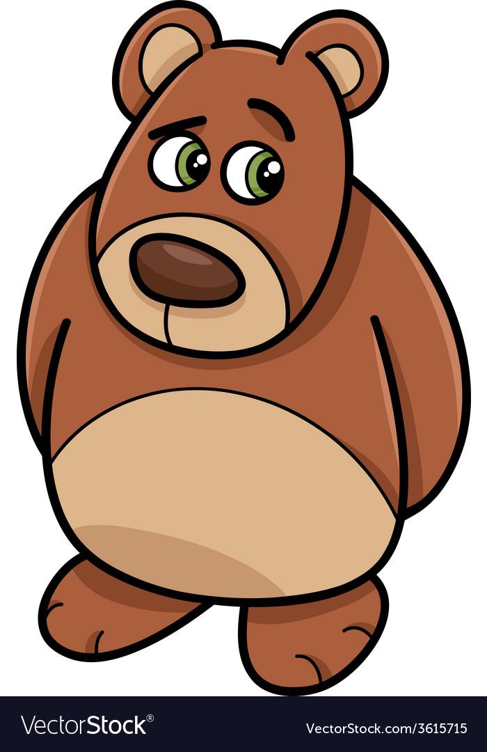 Shy bear animal cartoon vector | Price: 1 Credit (USD $1)