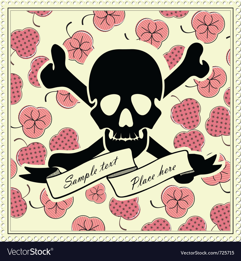 Skull and color frame vector | Price: 1 Credit (USD $1)
