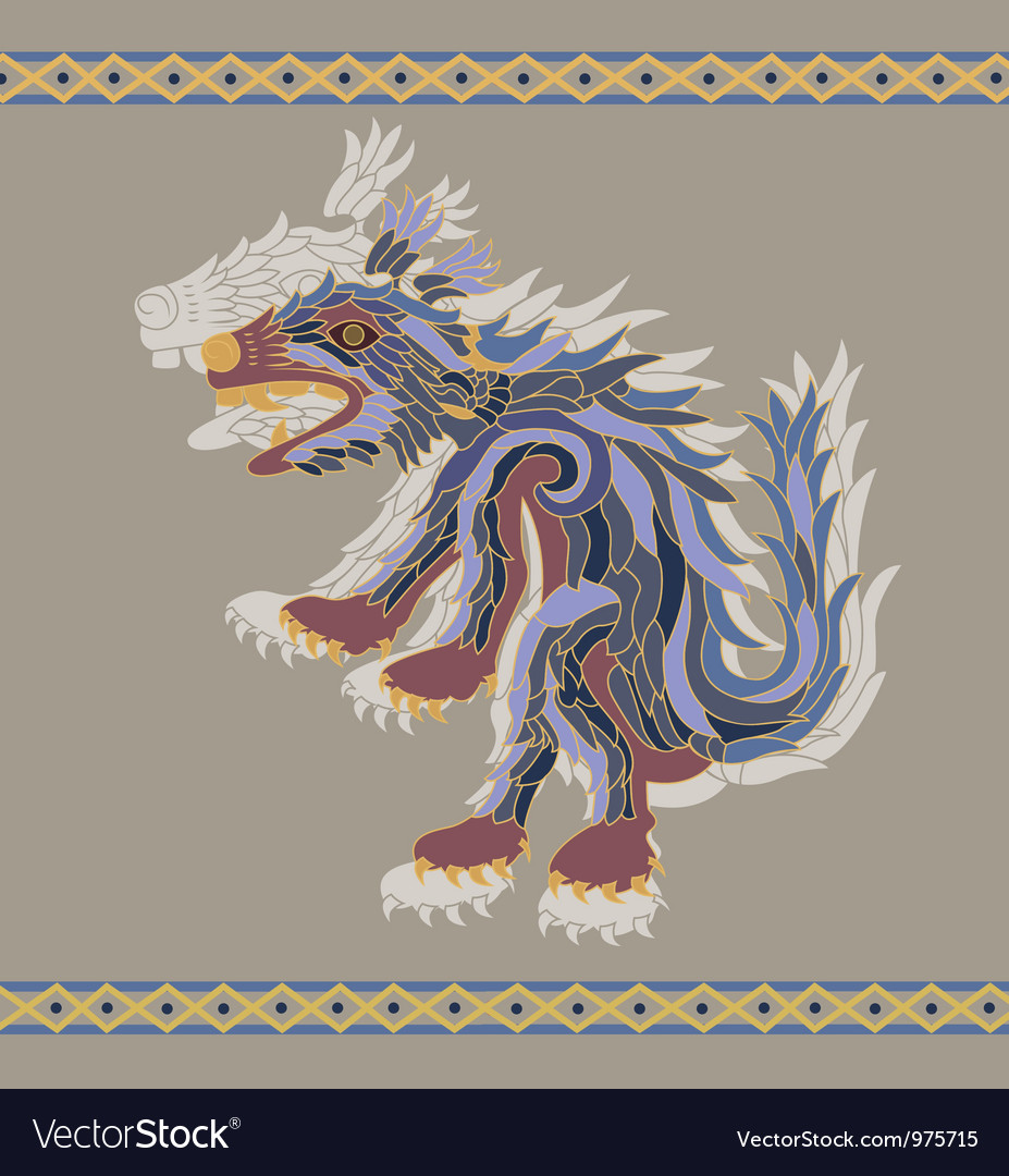 Traditional aztec koyote vector | Price: 1 Credit (USD $1)
