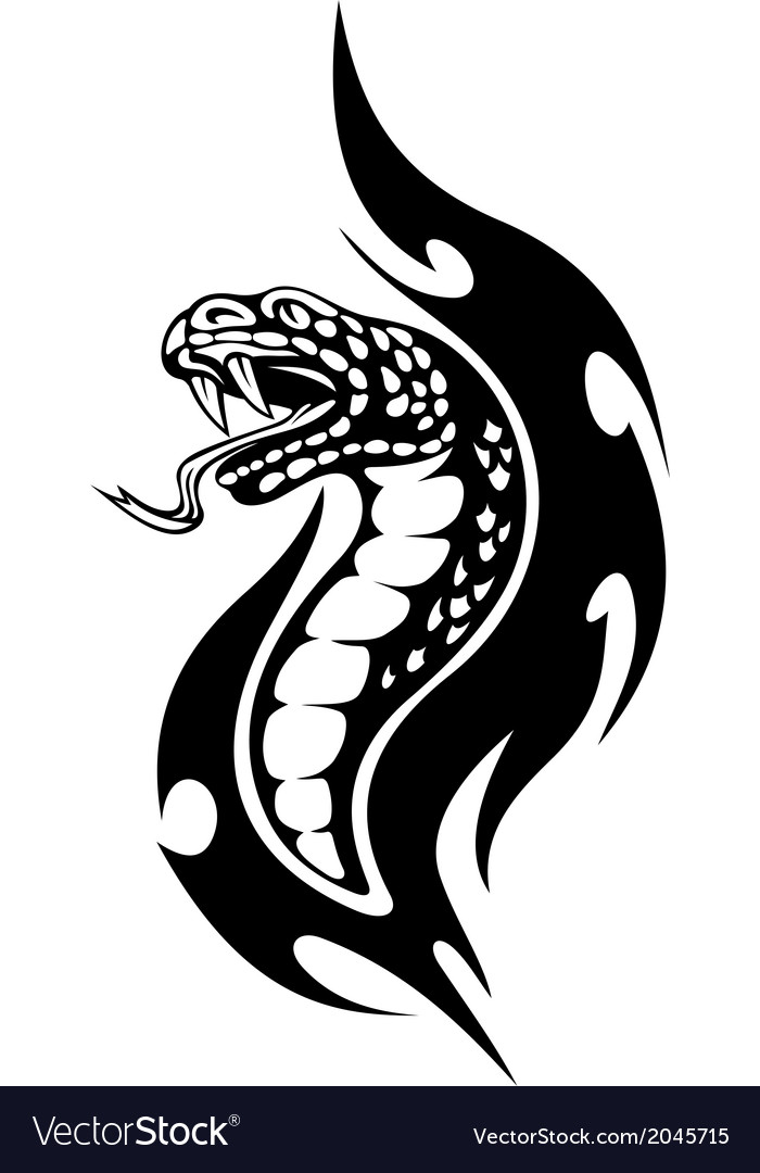 Viper tribal tattoo vector | Price: 1 Credit (USD $1)
