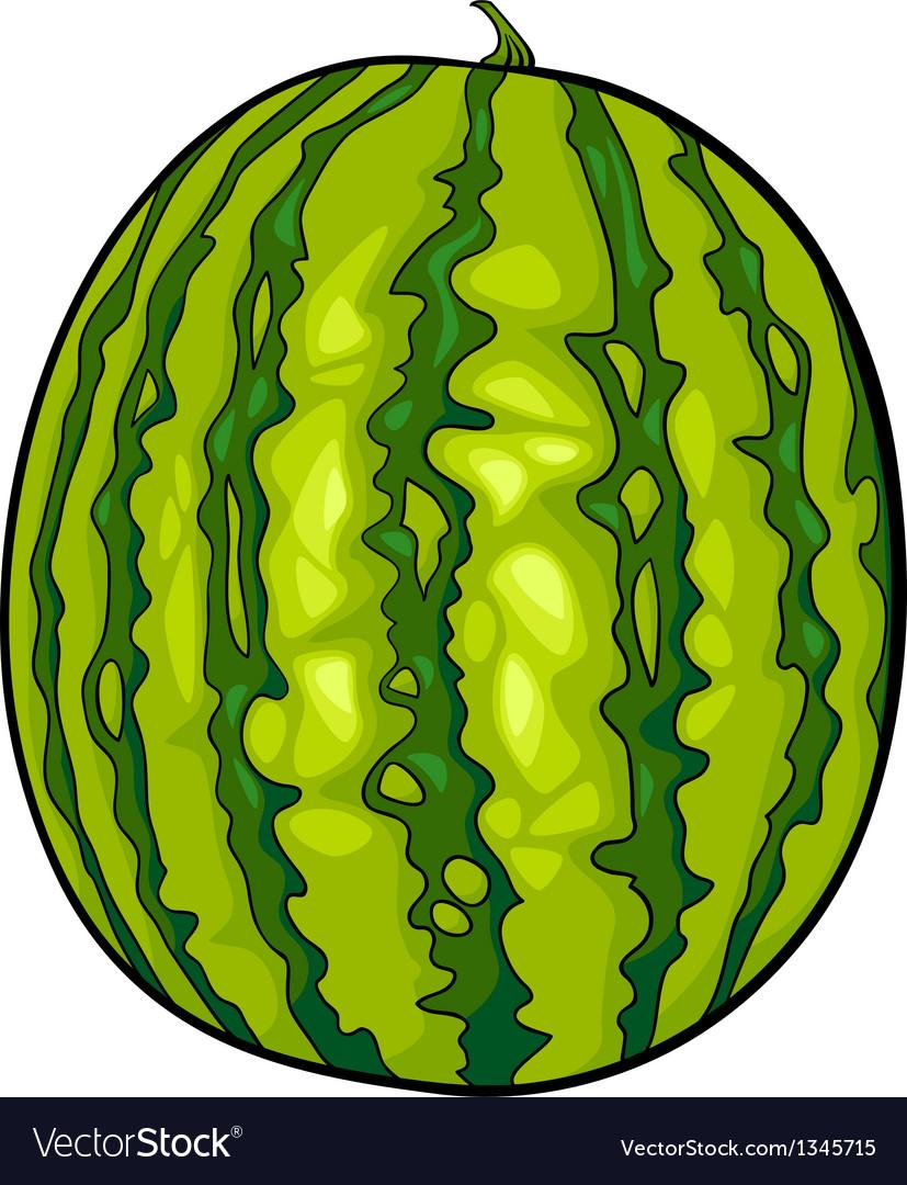 Watermelon fruit cartoon vector | Price: 1 Credit (USD $1)