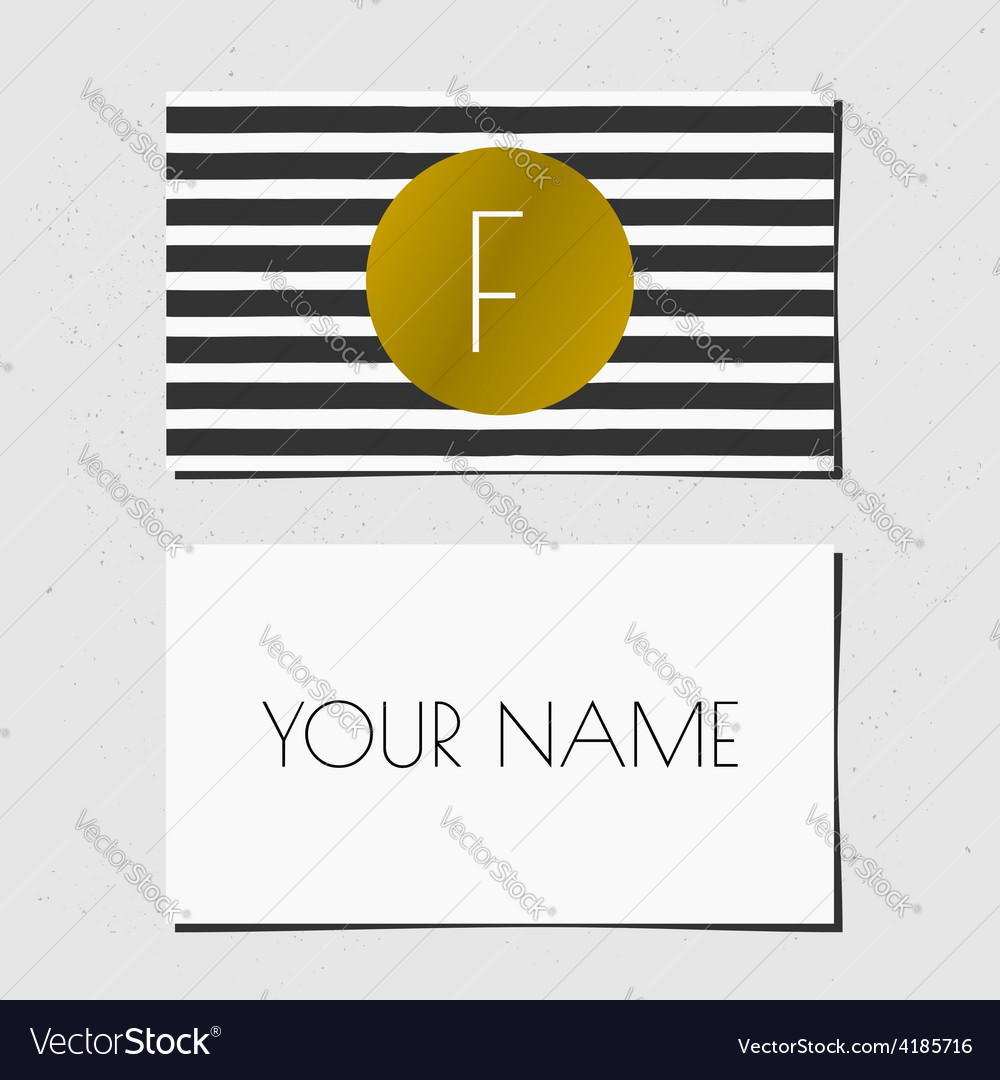 Business card bwgold 2015 7 vector | Price: 1 Credit (USD $1)