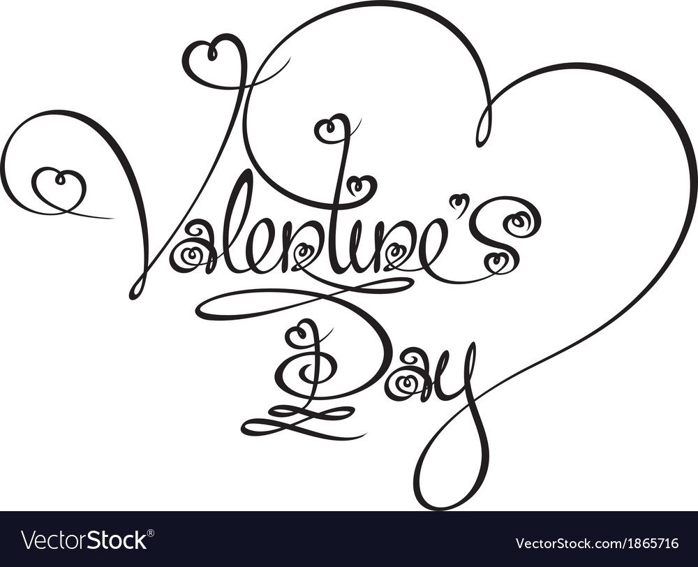 Caligraphic text valentines day vector   Price: 1 Credit (USD $1)