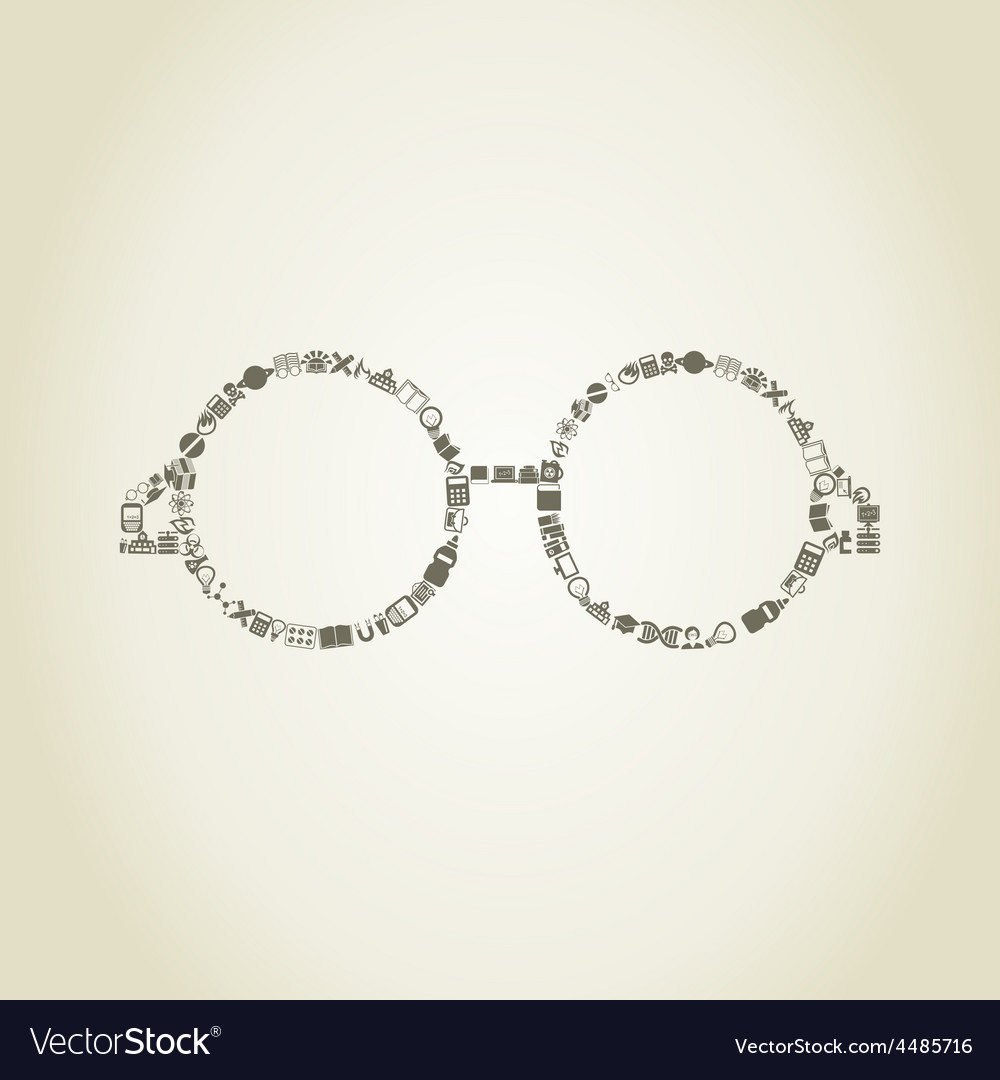 Glasses science vector | Price: 1 Credit (USD $1)