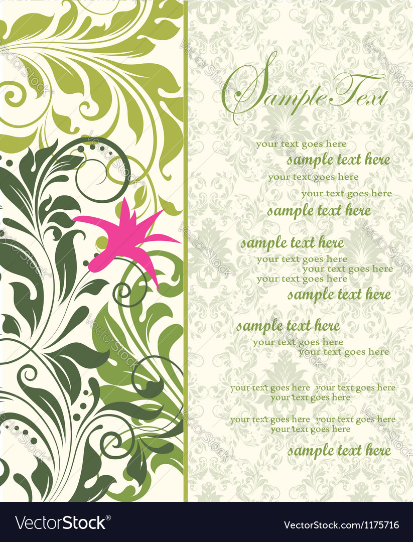 Green bridal shower invitation vector | Price: 1 Credit (USD $1)