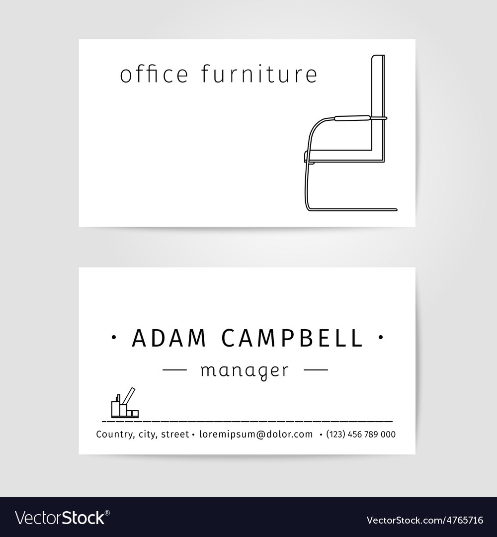Interior and office furniture designer or manager vector | Price: 1 Credit (USD $1)