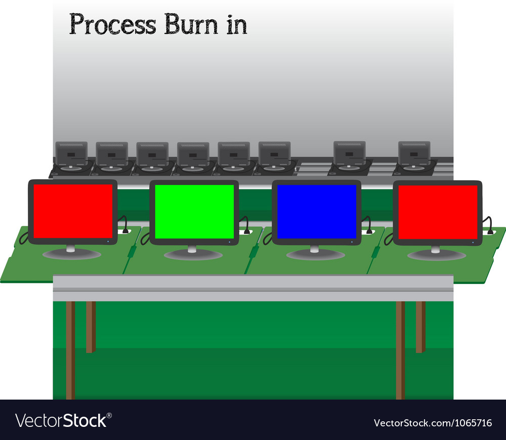 Process burn in production television of vector | Price: 1 Credit (USD $1)