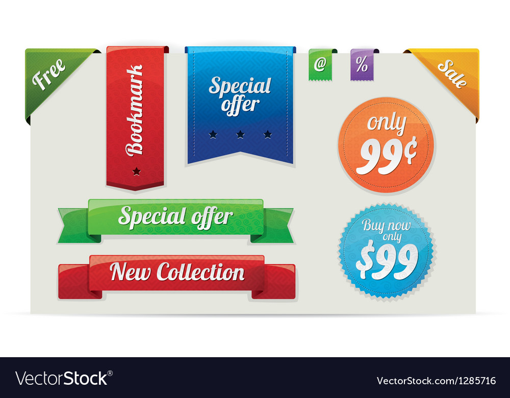 Sale stickers and labels vector | Price: 1 Credit (USD $1)