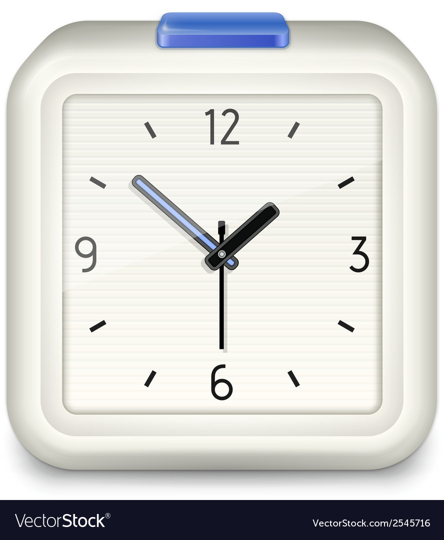 Square alarm clock icon vector | Price: 1 Credit (USD $1)