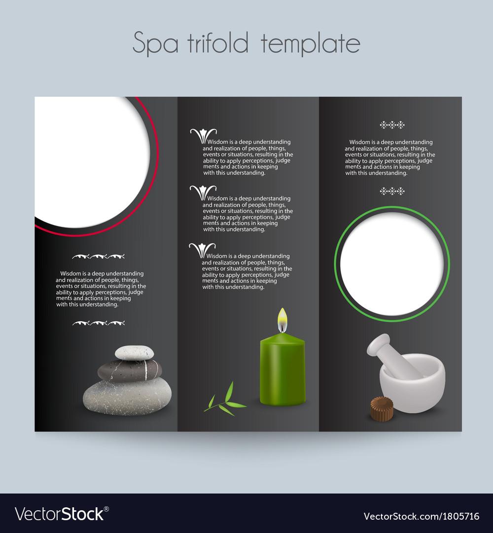 Tri-foldspa brochuremock up vector | Price: 1 Credit (USD $1)