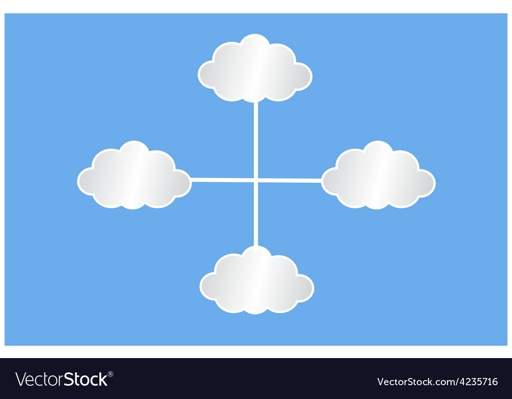 White clouds infografic vector | Price: 1 Credit (USD $1)