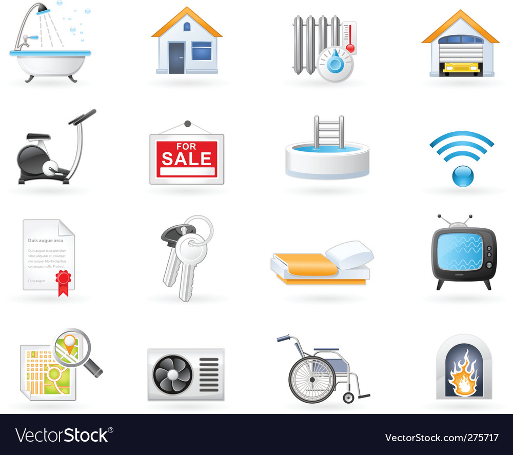 Amenities icons vector | Price: 3 Credit (USD $3)
