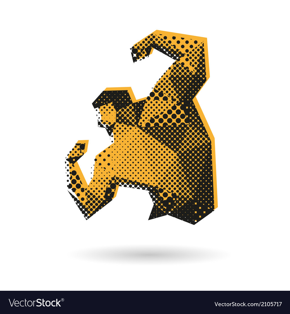 Bodybuilder abstract isolated vector | Price: 1 Credit (USD $1)