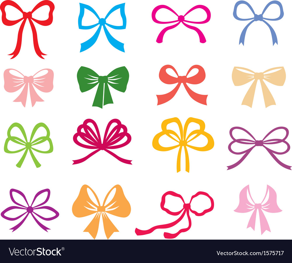 Bow color vector | Price: 1 Credit (USD $1)
