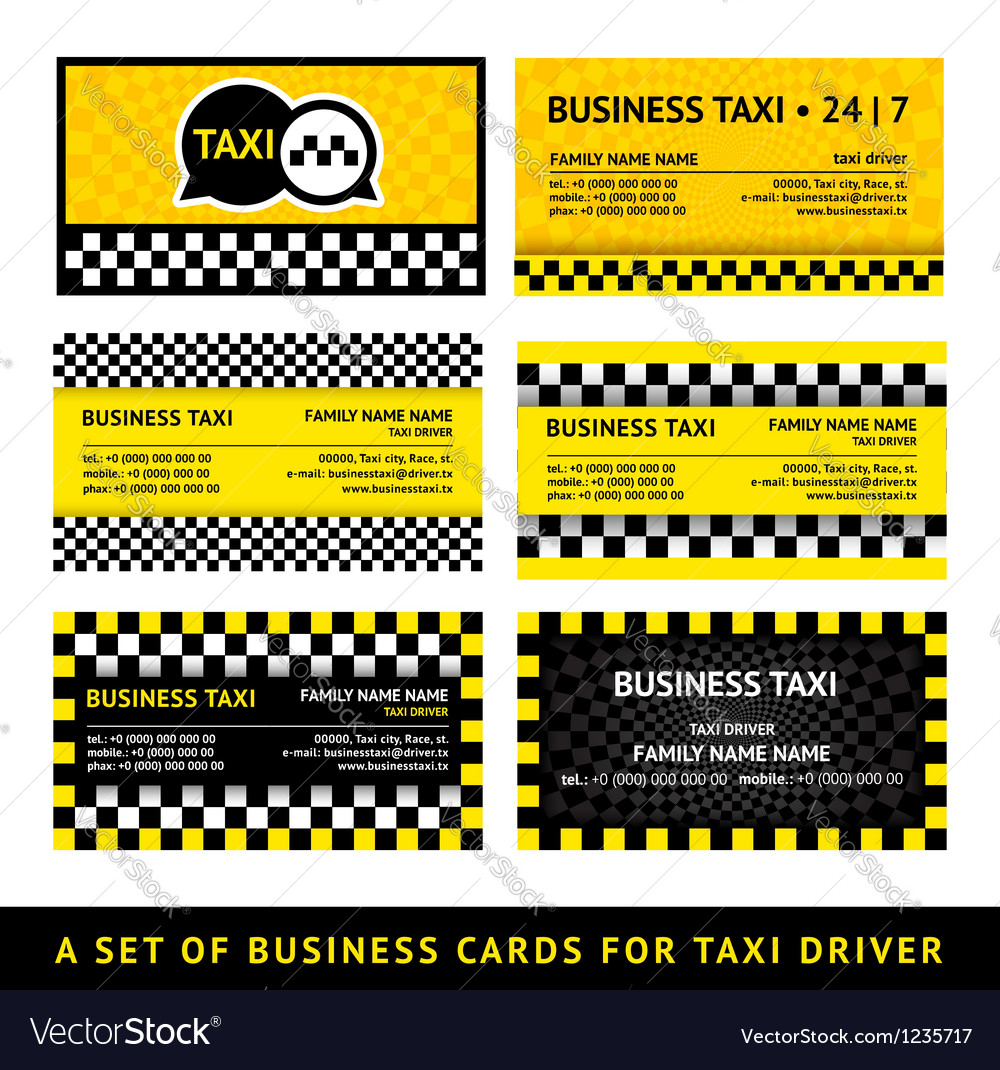 Business card taxi - eighth set vector   Price: 1 Credit (USD $1)