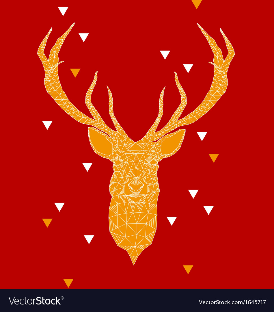 Christmas deer head with geometric pattern vector | Price: 1 Credit (USD $1)