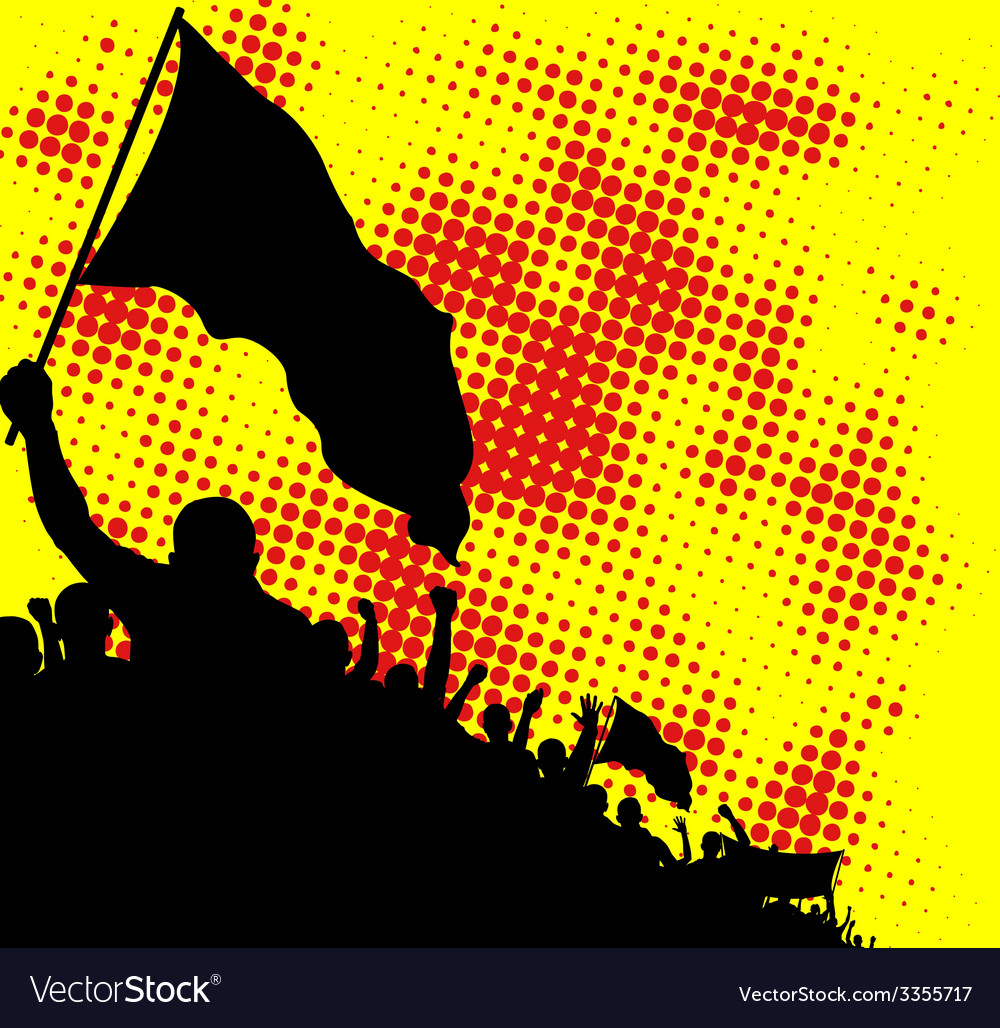 Crowd silhouette vector | Price: 1 Credit (USD $1)