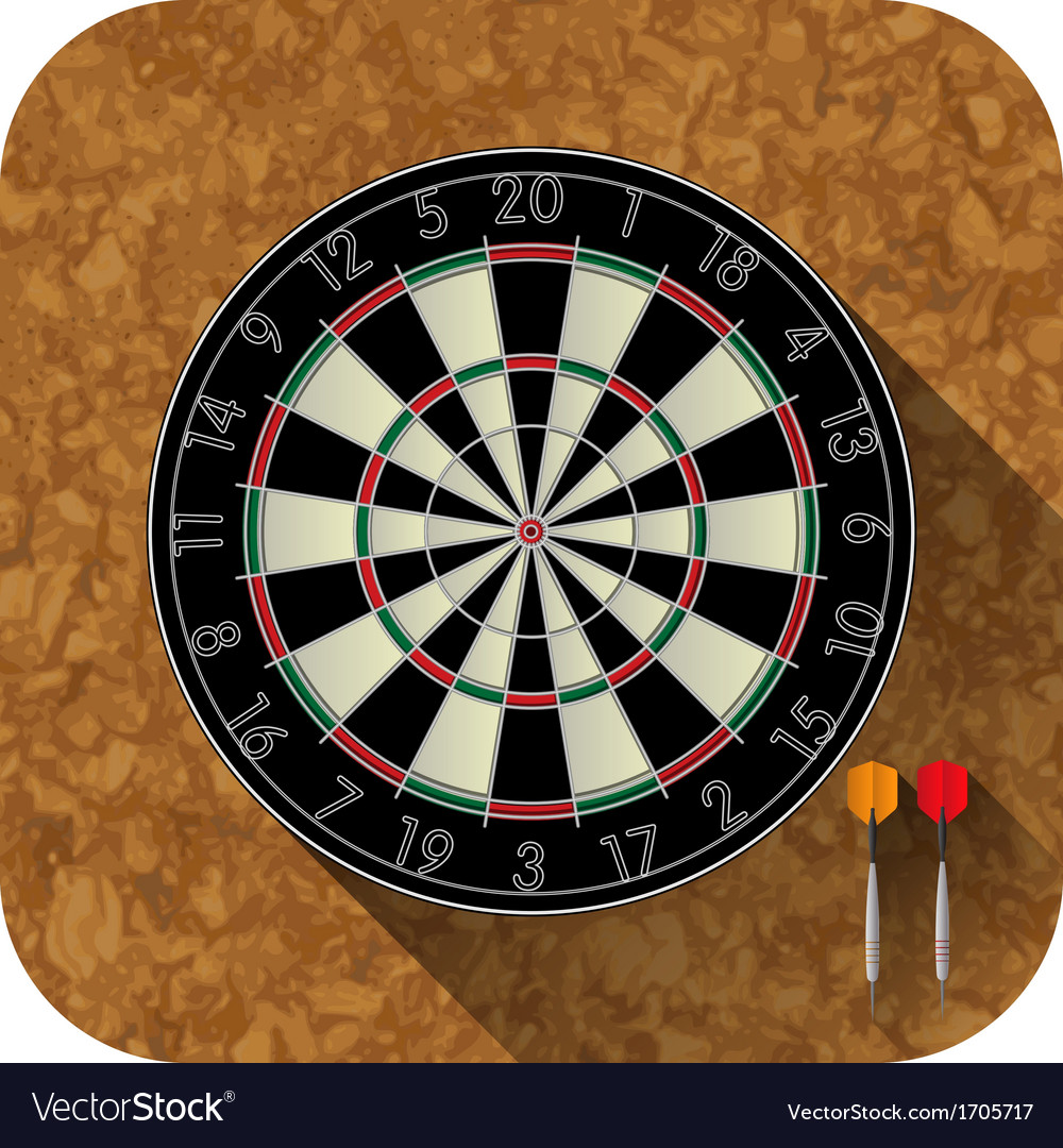 Dart board app icon vector | Price: 1 Credit (USD $1)