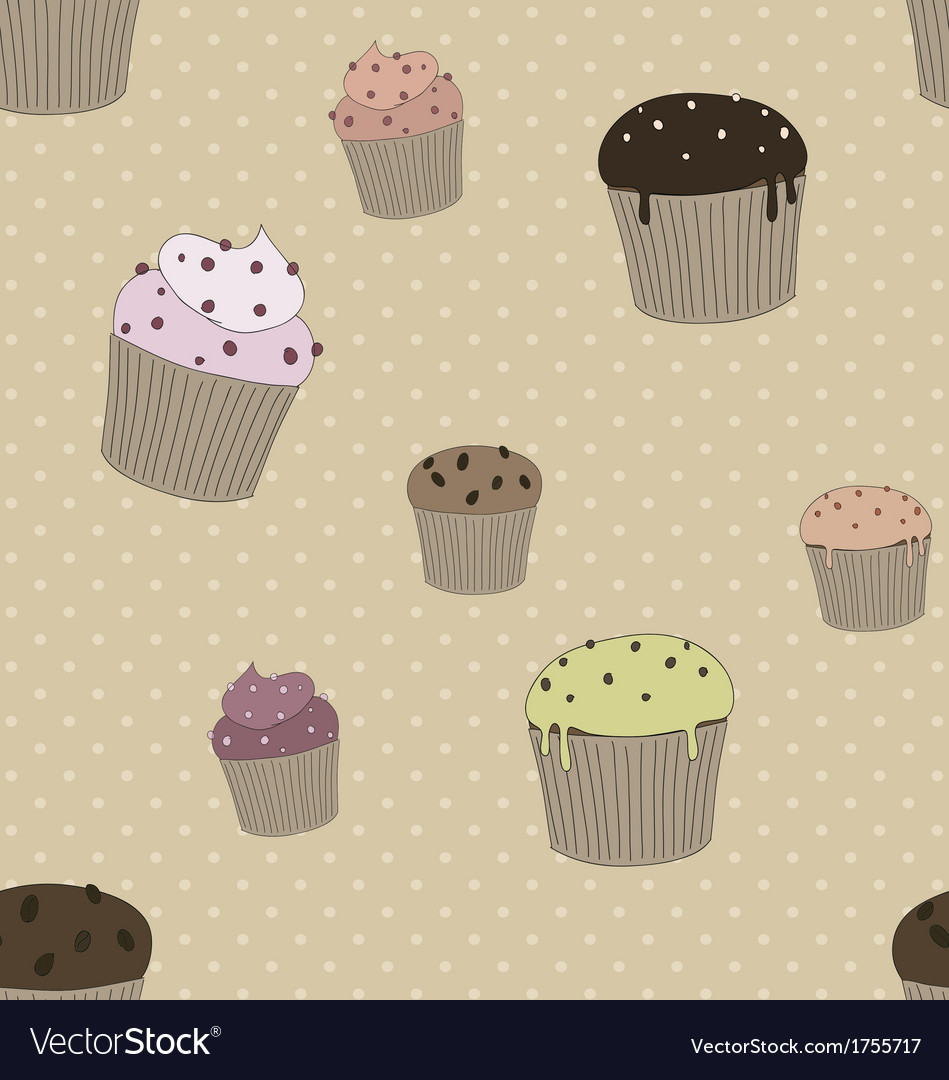 Pattern with cakes vector | Price: 1 Credit (USD $1)