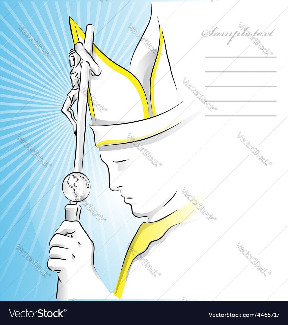 Pope background vector | Price: 1 Credit (USD $1)