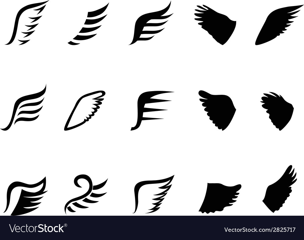 Wing icons vector | Price: 1 Credit (USD $1)