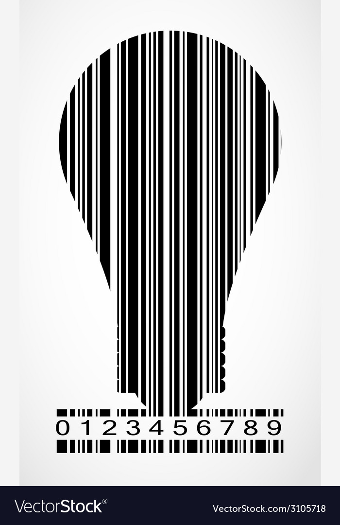Barcode lamp image vector | Price: 1 Credit (USD $1)