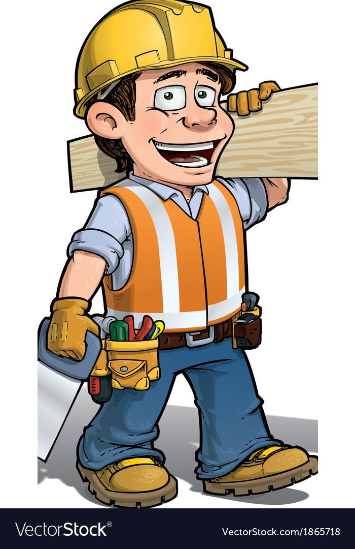 Construction worker carpenter vector | Price: 3 Credit (USD $3)