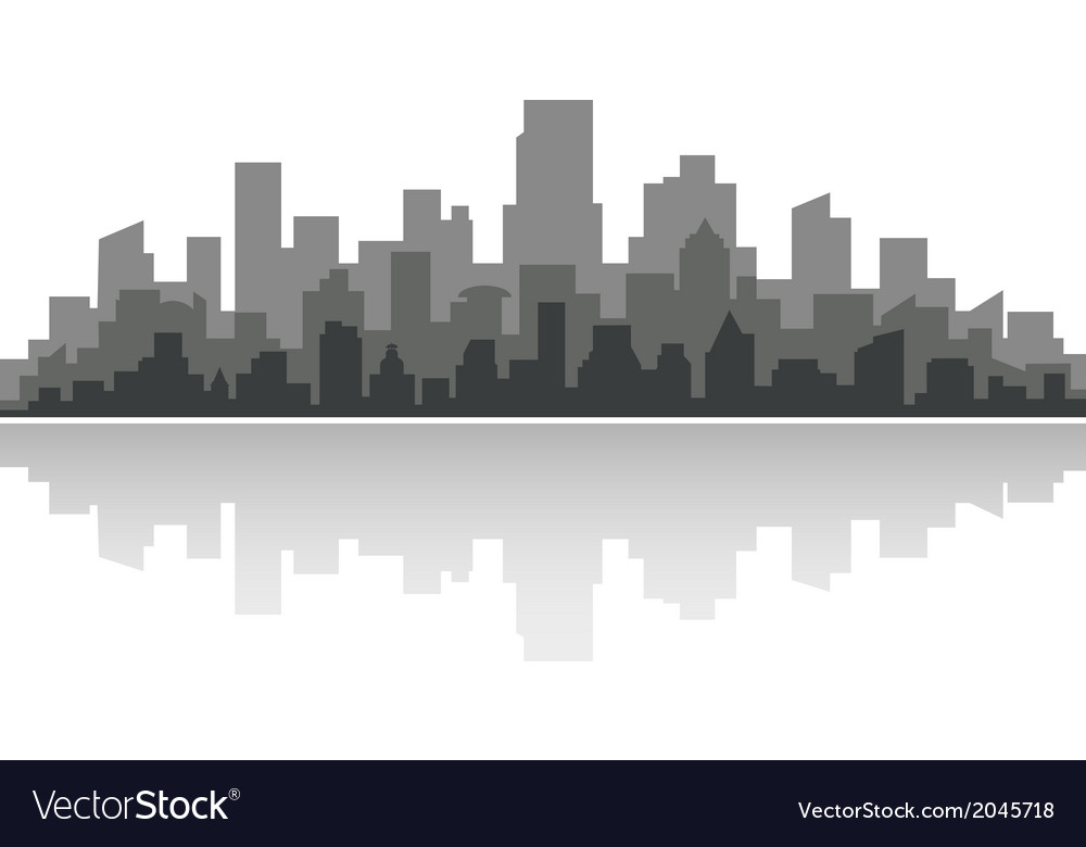 Downtown cityscape vector | Price: 1 Credit (USD $1)