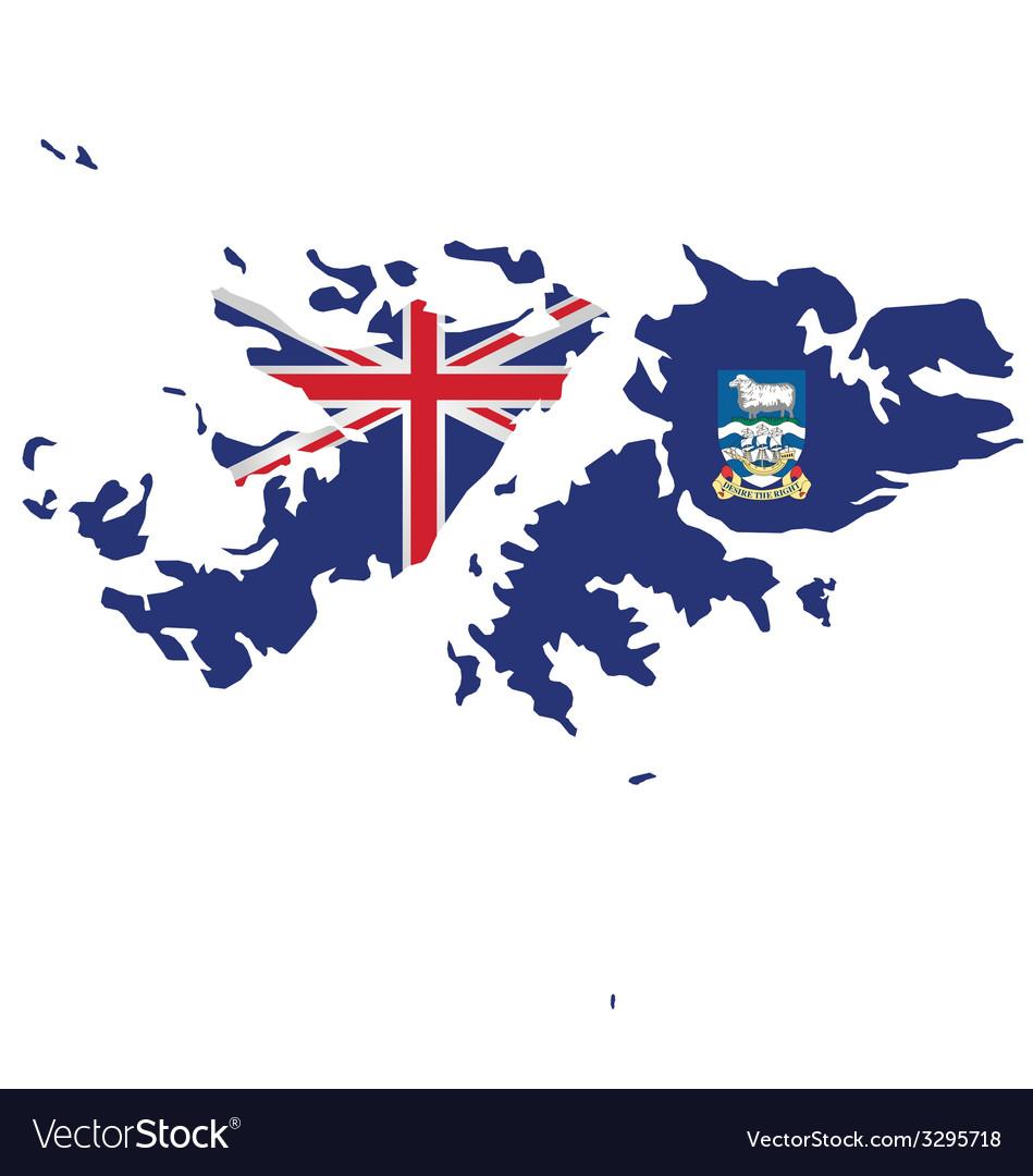 Falkland islands flag vector | Price: 1 Credit (USD $1)