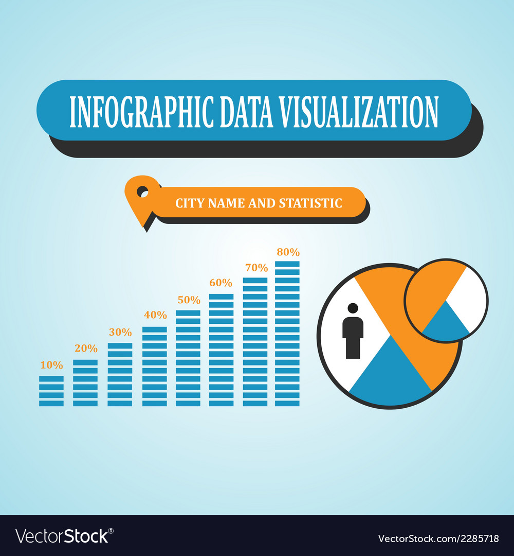 Infographic data visualization vector | Price: 1 Credit (USD $1)
