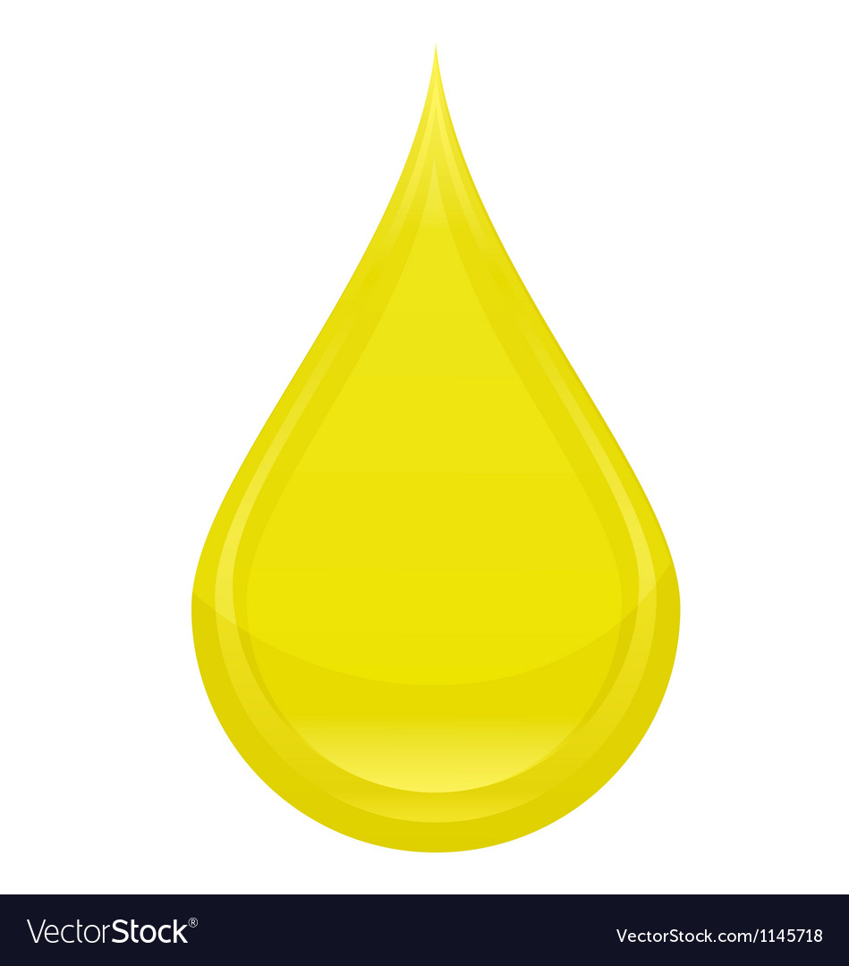 Power drop oil sign yellow color vector | Price: 1 Credit (USD $1)