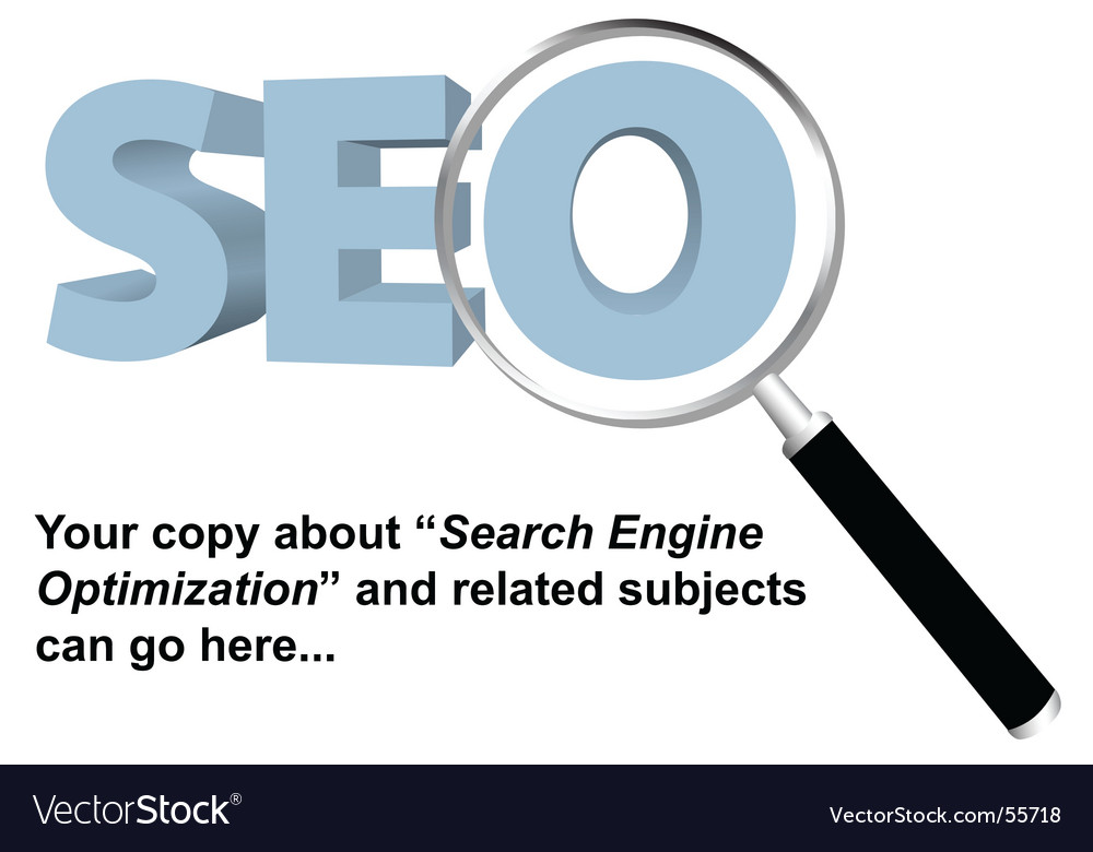 Seo search engine optimized logo vector | Price: 1 Credit (USD $1)