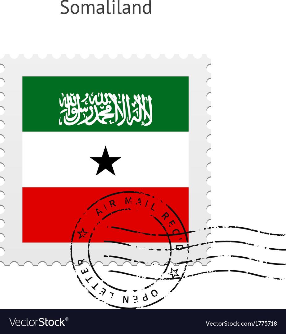 Somaliland flag postage stamp vector | Price: 1 Credit (USD $1)