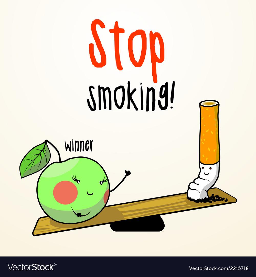 Stop smoking vector   Price: 1 Credit (USD $1)