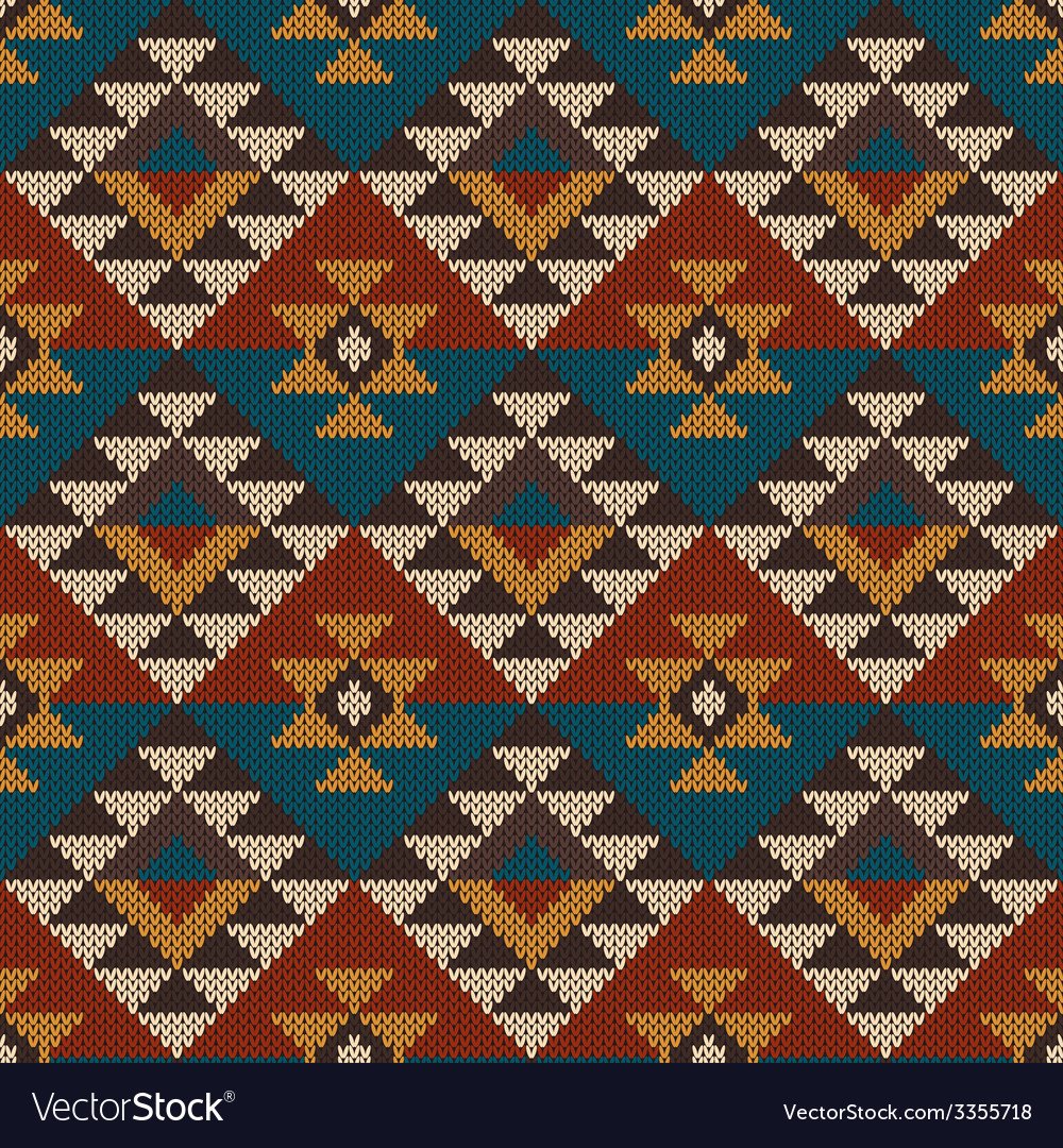 Traditional tribal aztec seamless pattern vector | Price: 1 Credit (USD $1)