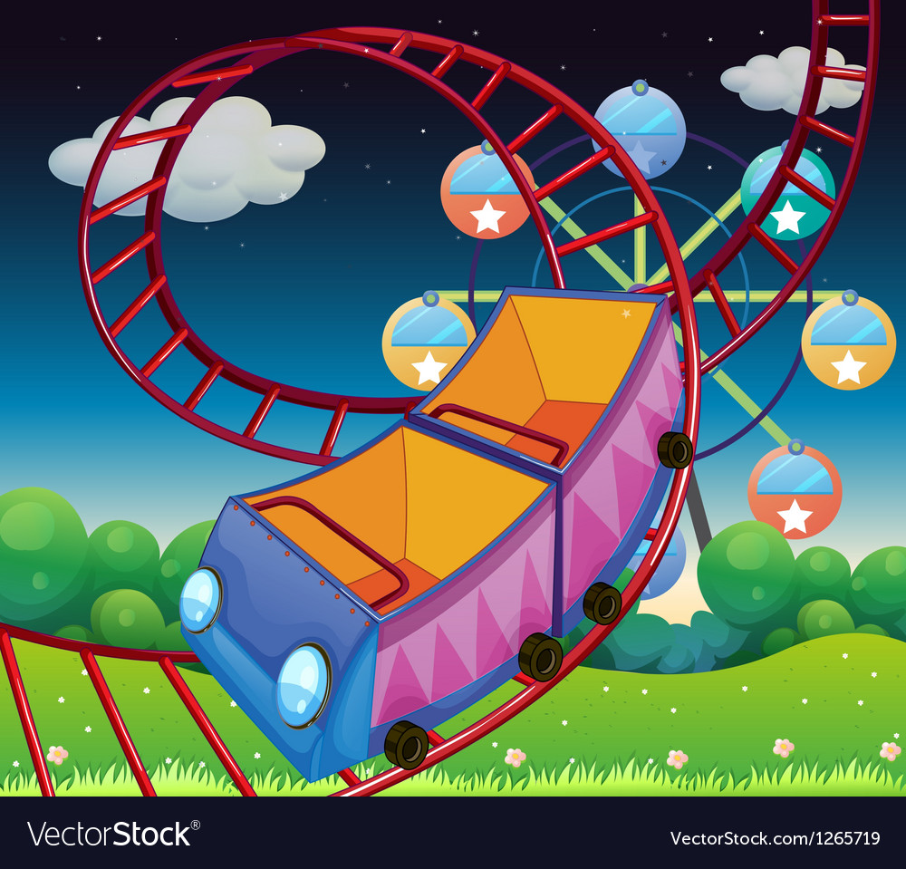 A roller coaster ride at the carnival vector | Price: 1 Credit (USD $1)